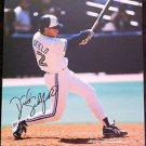 MLB DICK SCHOFIELD AUTOGRAPHED 8X10 PHOTO TORONTO BLUE JAYS, EARLY 1990'S, NR