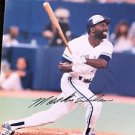 MLB MOOKIE WILSON AUTOGRAPHED 8X10 PHOTO TORONTO BLUE JAYS, EARLY 1990'S, NR
