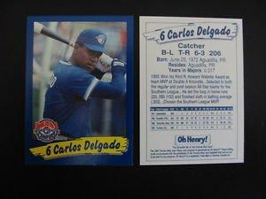 CARLOS DELGADO ROOKIE CARD TORONTO BLUE JAYS,RARE,OH HENRY,NEW,MLB,BASEBALL,WS