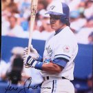 MLB RENE GONZALES AUTOGRAPHED 8X10 PHOTO TORONTO BLUE JAYS, 1991, NR