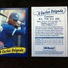 CARLOS DELGADO ROOKIE CARD, TORONTO BLUE JAYS, OHENRY, WORLD SERIES,MLB,BASEBALL