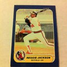 MLB REGGIE JACKSON,FLEER #32 MINI CARD BASEBALL 1986,CALIFORNIA ANGELS NMNT NR