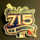 MLB HANK AARON 715 HOME RUNS COMMEMORATIVE LAPEL PIN, 1999 NEW, NR