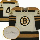 NHL Bobby Orr Autographed Boston Bruins White Replica Jersey