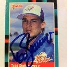 TODD STOTTLEMYRE AUTOGRAPHED DONRUSS ROOKIE CARD #37 1988 TORONTO BLUE JAYS NRMT