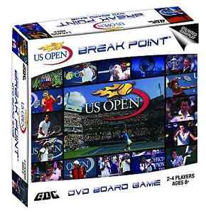 US OPEN TENNIS DVD BOARD GAME, CASE OF 6 GAMES,WHOLESALE LOT,FEDERER,NADAL, NEW