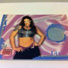WWE WWF ABSOLUTE MATERIAL GIRLS LITA WRESTLEMANIA-8 MAT NMT-MINT NR, FLEER 2002