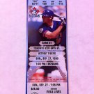 TORONTO BLUE JAYS, ROY HALLADAY 1ST WIN GAME FULL TICKET, 09/27/1998, CY YOUNG