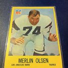 NFL MERLIN OLSEN CARD #94, 1967 LOS ANGELES RAMS, FOOTBALL, NMNT NR