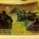 LOTR LORD OF THE RINGS, FELLOWSHIP OF THE RING,DELUXE HORSE & RIDER SET 2001,NIB