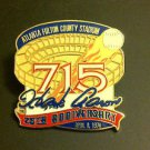 MLB HANK AARON 715 HOME RUNS COMMEMORATIVE LAPEL PIN, 1999 FULTON COUNTY STADIUM