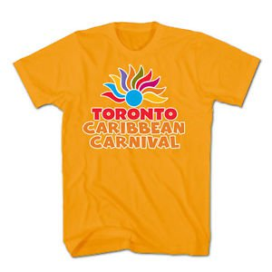 TORONTO CARIBBEAN CARNIVAL T-SHIRT, OFFICIAL MERCHANDISE, ORANGE, SIZE XX-LARGE, NEW