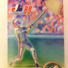MONTREAL EXPOS 1989 POCKET SCHEDULE, CALENDRIER OFFICIEL, MLB, FRENCH VERSION