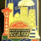 MLB NSGA 1998 CHICAGO CUBS, WRIGLEY FIELD LAPEL PIN, HARD TO FIND, NEW