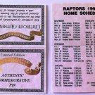 TORONTO RAPTORS INAUGURAL SEASON 1995-96 SCHEDULE, VERY RARE,NBA