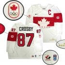 TEAM CANADA Sidney Crosby Autographed 2014 Olympics White Replica Jersey
