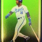 BO JACKSON SAMPLE CARD, KANSAS CITY ROYALS, MLB,SUPER STAR ELITE 1989-90, 001