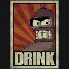 Futurama bender DRINK!!! t-shirt