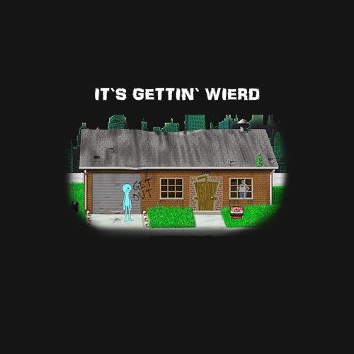 meeseeks Its gettin weird Aqua teen t-shirt