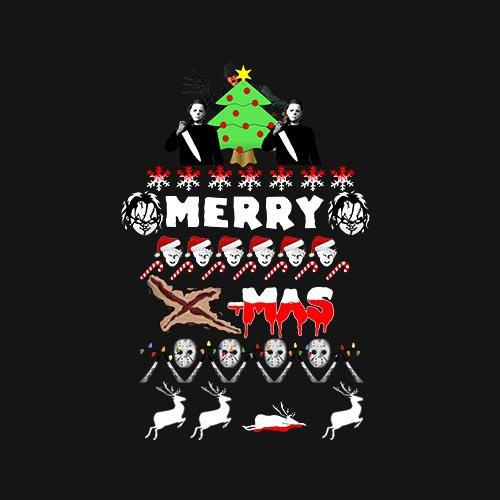 Merry x-mas horror - tee