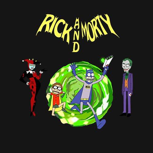 Rick and Morty - Batman With joker and harley!!! t-shirt