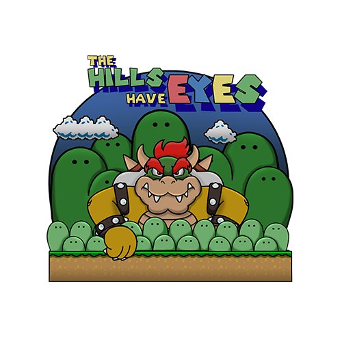 Super Mario - The hills have eyes t-shirt!- www.shirtdorks.com