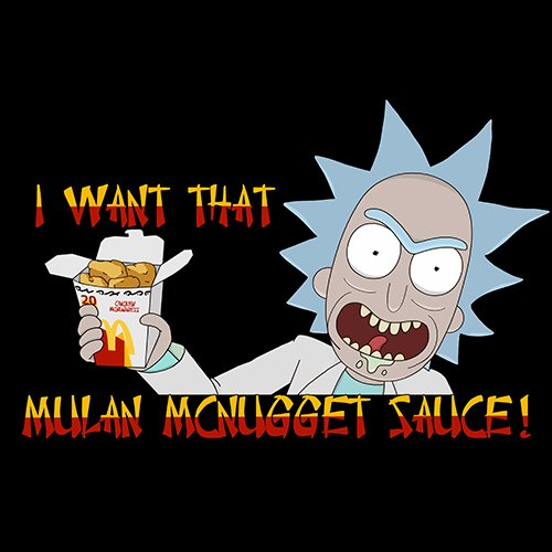 Rick and Morty - I WANT THAT MCNUGGET SAUCE!! T-Shirt - www.shirtdorks.com
