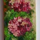 Hydrangea Original Oil Painting Impasto Pink Purple Hortensia Flowers Textured Art Europe Artist