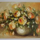 Yellow Roses Original Oil Painting Impasto Impression Still Life Textured Art Bouquet Europe Artist