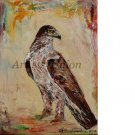 Eagle Bird Art Original Oil Painting Águila Impression Impasto Animal Fine Art Linen Canvas Texture