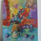 Still Life Figs Original Oil Painting Expressionism Vase Teapot Poppies Capsules Colorful Red Purple