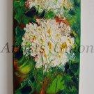 Hydrangea Original Oil Painting Hortensia Impasto White Blue Flowers Textured Art Europe Artist