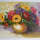 Impasto Asters Original Oil Painting Flowers Still Life Palette knife Textured Colorful EU Artist
