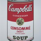 Andy Warhol Campbell's Soup Consommé signed numbered print
