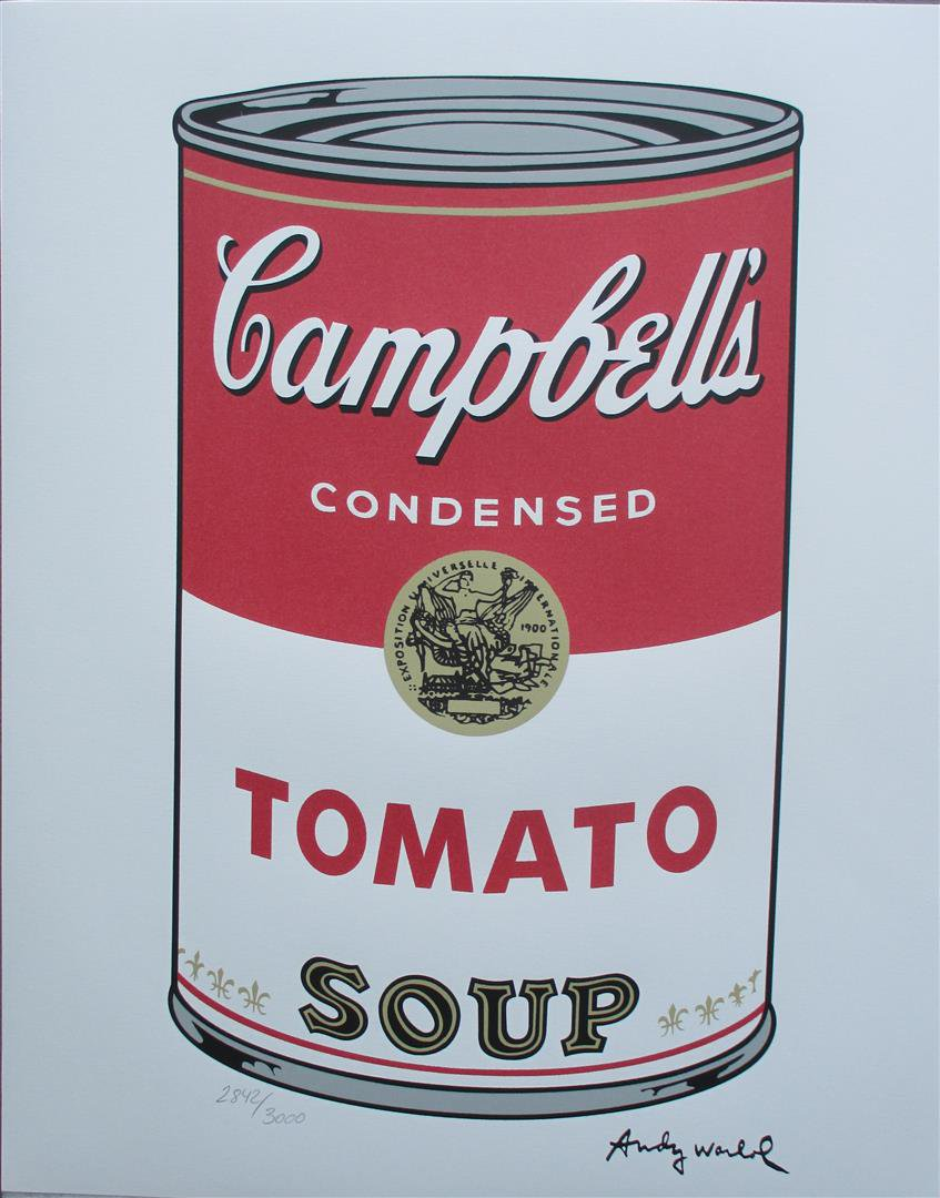 Andy Warhol Tomato Campbell's Soup authenticated signed lithograph