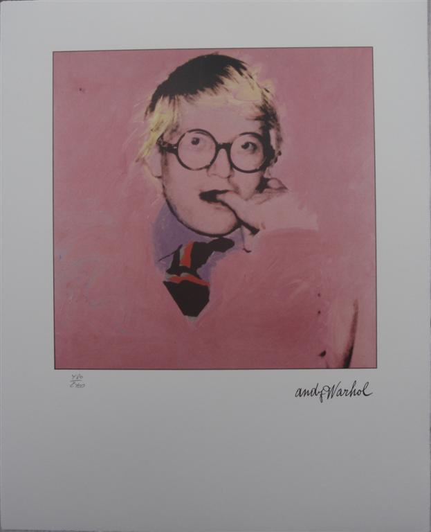 Andy Warhol authenticated lithograph David Hockney