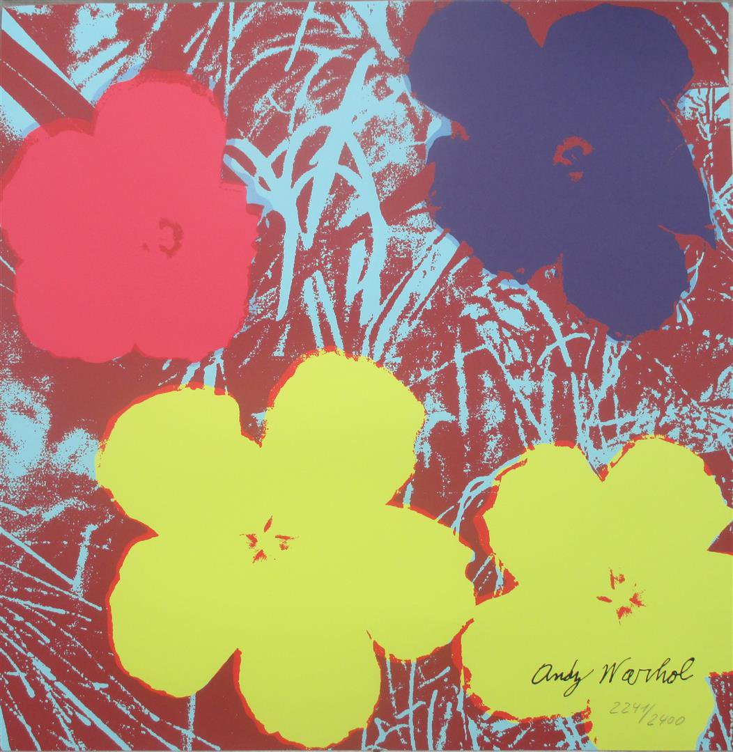 Andy Warhol lithography Flowers signed numbered print