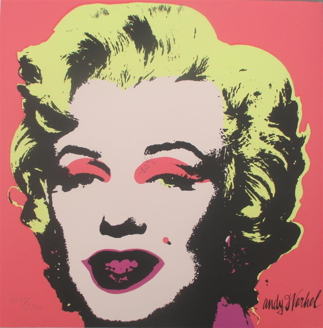 Andy Warhol Marilyn Monroe signed numbered lithograph limited authenticated edition