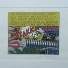 Roy Lichtenstein lithograph Takka Takka signed in print limited second edition of 5000