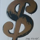 Andy WARHOL lithograph DOLLAR Sign $ limited edition authenticated white