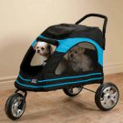 LARGE DOG STROLLER CARRIAGE ROADSTER HOLDS UP TO 100 LBS FOLDS FLAT pet supplies