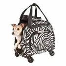 DOG ROLLING CARRIER 4 WHEEL PET BAG SNOOZER CARRIER ON WHEELS PETS UP TO 18 LBS