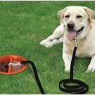 DOG TIE OUT STAKE TETHER LOW PRO ANCHOR LEASH STAKE WITH WATER / FOOD BOWL NEW !