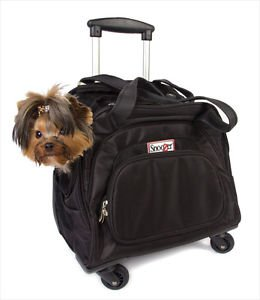 DOG ROLLING CARRIER 4 WHEEL PET BAG SNOOZER TOTE ON WHEELS PETS UP TO 18 LBS USA