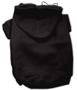 DOG HOODIE SWEAT SHIRTS BLACK FOR DOGS OF ALL SIZES USA MADE DOG & PUPPY CLOTHES
