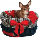 DOG PET CARRIER DOG CAR SEAT TOTE BED ALL IN ONE MADE IN AND SHIPS FROM USA