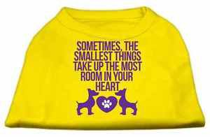 SMALL DOG SHIRT yorkie chihuahua toy maltese PAW HEART DOG SHIRT clothes US MADE