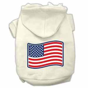XS DOG HOODIE chihuahua teacup yorkie DOG SWEAT SHIRT US FLAG clothes USA MADE