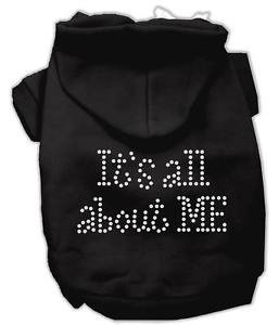 SM DOG HOODIE chihuahua yorkie toy poodle ALL ABOUT ME! DOG SWEATSHIRT USA MADE