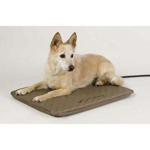 "MEDIUM DOG BED HEATED OUTDOOR DOG BED ORTHOPEDIC DOG BED 24"" WEATHERPROOF BED"